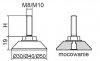 Stopka regulacyjno-obrotowa nitowane fi30 - M10x30 - 4 szt.