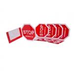 Osłonka cenowa - STOP PROMOCJA - na listwę cenową - 5 sztuk