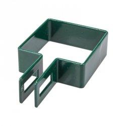 Obejma końcowa 50x50 zielona - 1 sztuka