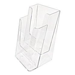 Stojak, podajnik na ulotki piętrowy 2x1/3 A4DL