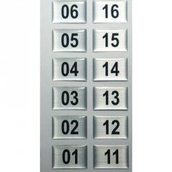 Numeracja wieszaka szatniowego WS.10 i WS.20 - 20 sztuk
