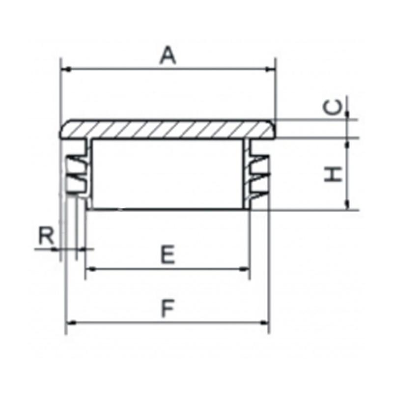 Zaślepka kwadratowa 15x15mm - 100sztuk