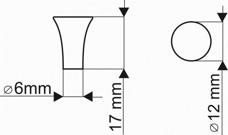 Gałka meblowa GG45 - chrom satynowy