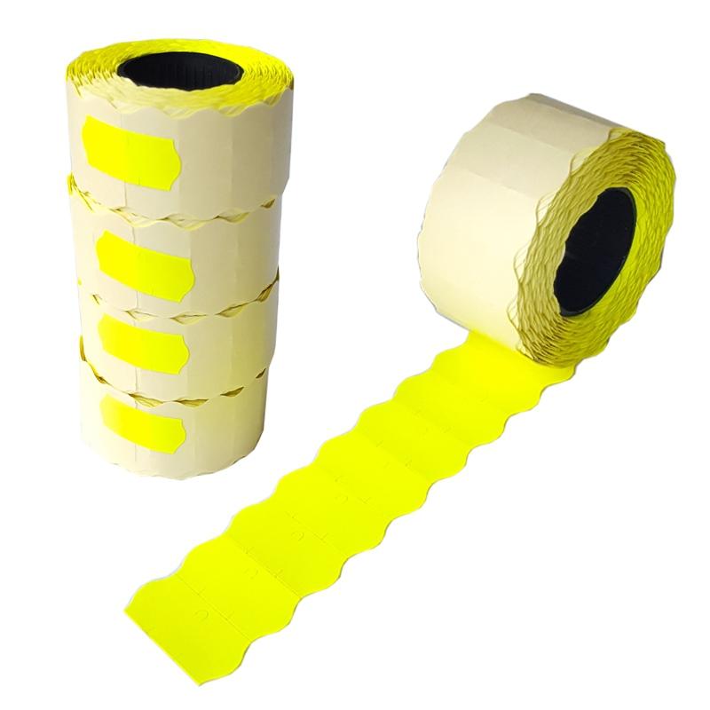 Taśma do metkownicy jednorzędowej BLITZ żółta