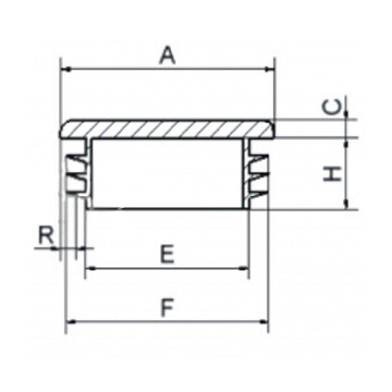 Zaślepka kwadratowa 32x32mm - 50 sztuk