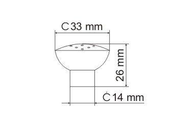 Gałka meblowa GG10 - nikiel satynowy