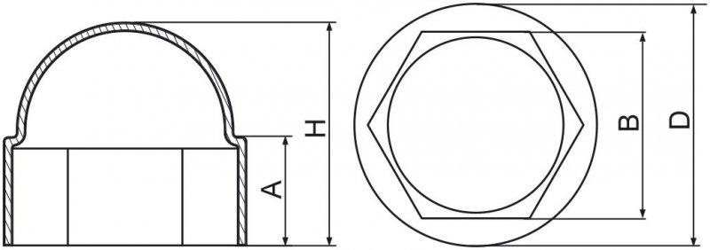 Maskownice śrub M20 - 20 sztuka