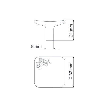 Gałka meblowa GU03 - nikiel satynowy