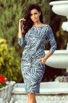 Sukienka Model 13-87 Blue Jeans Liście