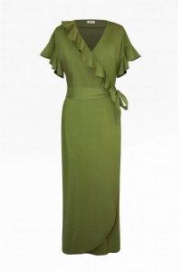 Sukienka kopertowa do kostek długa 293 Green
