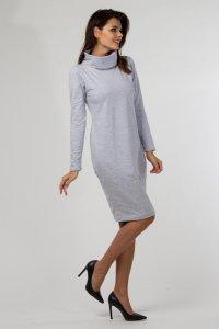 Sukienka dzianinowa K-040 Light Gray Melange