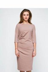 Elegancka dopasowana modna sukienka GR2080 czekoladowy