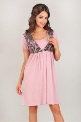 Koszula Nocna  Model 3006 Pink/Black