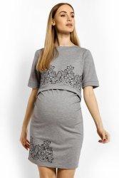 Sukienka Ciążowa Model 1623C Grey