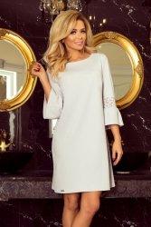Elegancka sukienka S-XL MARGARET 190-2 Light Grey