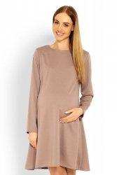 Sukienka Ciążowa Model 1359C Cappuccino