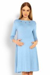 Sukienka dzienna Ciążowa S-XXL Model 1631C Sky Blue