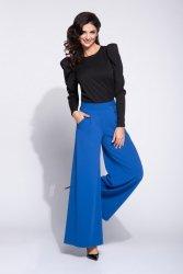 Spodnie z zakładkami szerokie 288 Blue