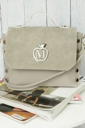 Mini kuferek listonoszka z ćwiekami 861B Grey