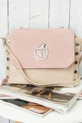 Mini kuferek listonoszka z ćwiekami 861A Pink