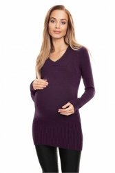 Sweter Ciążowy Model 70024 Śliwka