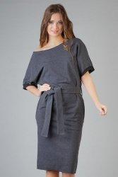 Sukienka Model Aleksandra 9 Dark Grey