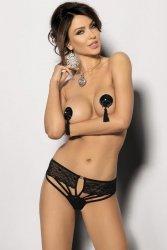 Stringi damskie erotyczne PLUS SIZE M-XXXL ARDICA Black duże rozmiary