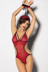 Komplet damski erotyczny M-XL CZERWONY ELTERO