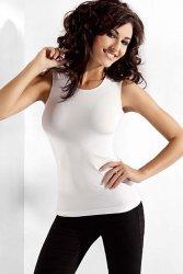 Bluzka damska L-XXL bez rękawów WHITE plus size