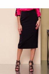 Klasyczna spódnica midi GR1491 Black