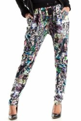 Spodnie Damskie Model MOE266 Geometria Multicolor