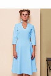 Sukienka z oryginalnym dekoltem GR1541 Sky Blue