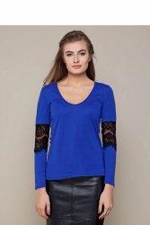 Miękka koszula z głębokim dekoltem GR1342 Blue