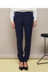 Spodnie z mękkiej, elastycznej dzianiny GR1346 Blue