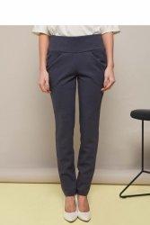 Spodnie z mękkiej, elastycznej dzianiny GR1346 Grey