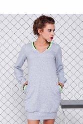 Sportowa sukienka GR1077 Light Grey