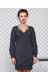 Sportowa sukienka GR1077 Dark Grey