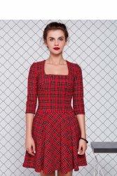 Suknia z jaskrawym nadrukiem GR1157 Red