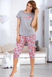 Piżama Damska Model 3054-2 Grey/Pink
