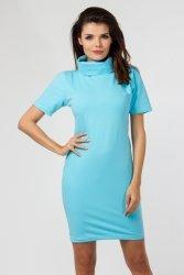 Sukienka dzianinowa M-036 Turquise
