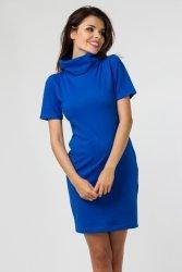 Sukienka dzianinowa M-036 Cornflower