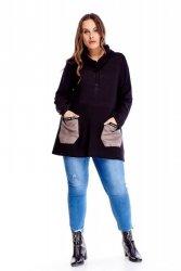 Bluza damska L-XXXL sweterkowa z golfem
