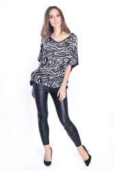 Tunika damska PLUS SIZE S-3XL CENTKI zebra