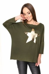 Bluzka damska PLUS SIZE S-3XL GOLD STAR KHAKI