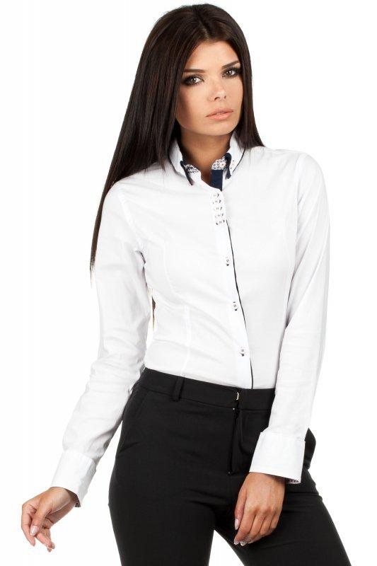 Koszula Damska Model MOE067 White