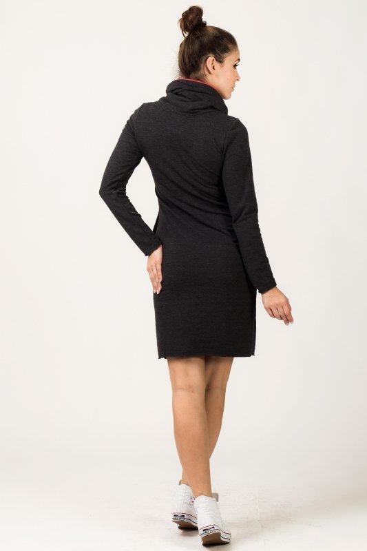 Sukienka Model Kaja 6 Dark Grey/Coral