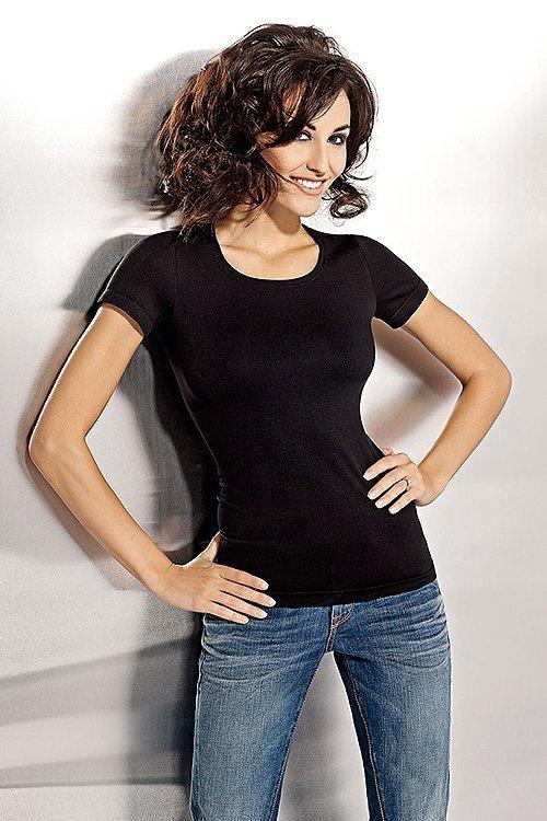 Tshirt Damski L-XXL krótki rękawek PLUS SIZE Black
