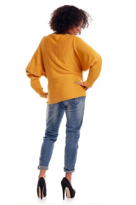 Sweter model 70003C Mustard