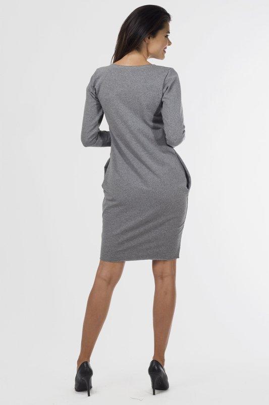 Sukienka-dzienna-40-54-dzianina-dresowa-PLUS-SIZE-D-020-SZARA-duze-rozmiary-do-biura-tyl