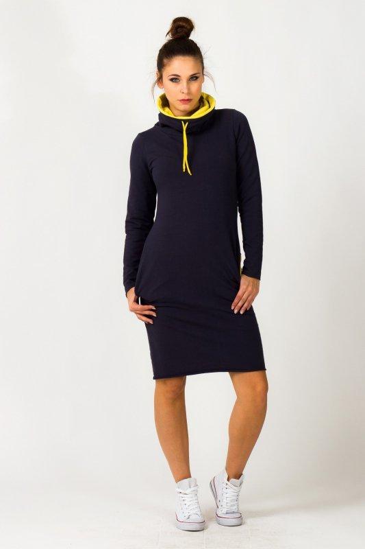 Sukienka model Kaja Navy/Yellow